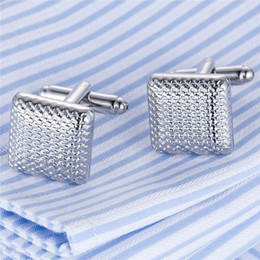 Wholesale Mens Shirts For Cufflinks - 1 Pair Shirt Square Shape Cufflink For Mens Enamel Retro Jewelry Cuff Link Luxury Male Wedding Button French Father's day Gifts Wholesale