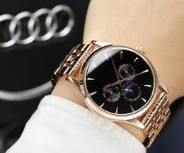 7963be875617 Todos los diales AAA relojes correa de acero inoxidable quart top lujo  hombres reloj marca casual watch1