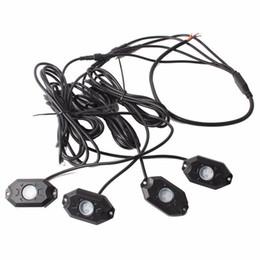 RGB LED Rock Light Kits 4 Pods Luces de neón multicolor con APLICACIÓN de teléfono celular Controlador Bluetooth para Jeep Off-Road Truck 4x4 SUV desde fabricantes