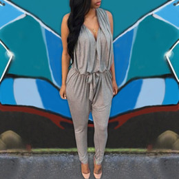 15cc25f5c6 high waist jumpsuits Canada - Rompers Women Jumpsuits 2018 Summer Sexy  Sleeveless Long Casual Overalls V