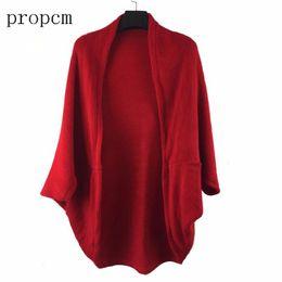 Wholesale Korea Fashion Style Coat Woman - 2017 New Fashion Women Casual Korea Loose Shawl Batwing Sleeves Lady Knit Sweater Coat Woolen Women Cardigans Jacket