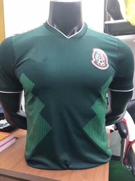 Wholesale Soccer Player Jersey - Top quality Mexico 2018 World Cup Player Version Soccer jersey Chicharito LOZANO LAYUN football shirt 18 19 Mexico size S--XXL green jerseys