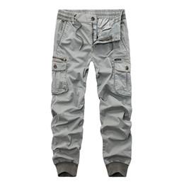 Neue 2018 Marke Casual Jogger Einfarbig Hosen Männer Baumwolle Elastische Hosen  Military Style Armee Cargo Pants Herren Leggings bca287fa4c