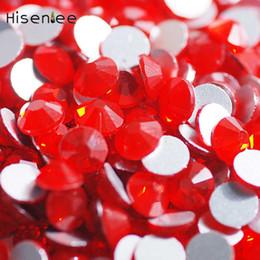 Diy körperschmuck online-Mode Charme Kristall Nagel Flachboden Shallow Red Farbe Voller Größe Beliebte DIY Wunderschöne Schmuck Zubehör Body Art Dekoration