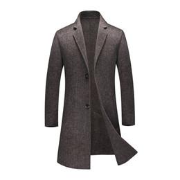 Deutschland Neuer Herbst-Winter-Mann-Windbreaker-Doppelt-70% Wollmantel-beiläufige lange starke Wollmäntel der Männer Hochwertige Luxusgröße M L XL XXL 3XL supplier long wool coat xxl Versorgung
