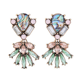 Wholesale Halloween Atmosphere - Retro Style Hollow Atmosphere Crystal Alloy Earrings Lady Earrings Long Paragraph Wild Cool Popular High-end Jewelry