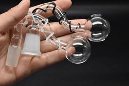 adaptador de cera Rebajas Honey Bucket Glass adapter Banger Cera Aceite Clavo con 14 mm 18 mm macho hembra Cuenco conjunto piezas de aceite espiral recipiente para fumar bongs de agua