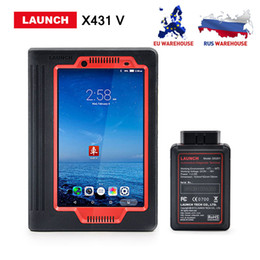 Wholesale launch x431 v - Launch X431 V 8inch Scanner Support Bluetooth Wifi 2 years free Update online X-431 V Full system Diagnostic Tool DHL free