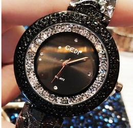 relógios de senhora Desconto Mulheres super luxo blingbling capa cheia de diamantes relógio high-end presentes nobres à prova d 'água bonito senhoras multi-colo relógio de quartzo de cristal atacado