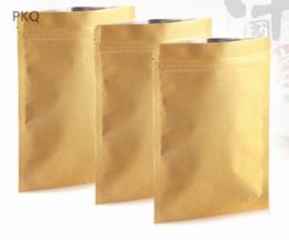 Sacos de zíper de armazenamento de papel on-line-100 pcs de papel Kraft saco de armazenamento Com Zíper folha De Alumínio sacos de zip lock bolsas Doces Biscuit Chá Pacote de Armazenamento Com Zíper bolsa