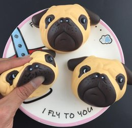 Wholesale Dog Bubbles - Squishy Big Dog Face Head 11cm Sharpei Simulation Toy Animal Bubble bread Kawaii cake slow rebound Cute squishies decompression gift Free