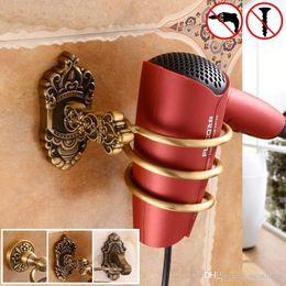 Badezimmer Regale Schlussverkauf Bequem Wand Montiert Haar Trockner Veranstalter Spirale Ständer Halter Rack Aluminium Bad Regal Lagerung