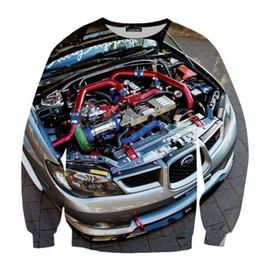 2019 carros de manga comprida Mais recente Moda Feminina / Homens Top Do Motor Do Carro 10 EG25 Engraçado 3D Impresso Moletons Com Capuz Mangas Compridas Tops S --- 5XL B63 carros de manga comprida barato