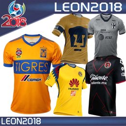 Wholesale America Mexico - Tijuana 2018 Mexico Club America soccer Jersey New home away Third 17 18 Monterrey Camisetas football Tigres UANL UNAM Chivas jerseys