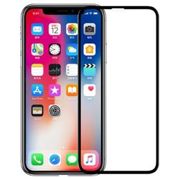 Wholesale Iphone Screen Dust - 5D Full Cover Screen Protector For iPhone X Glass Anti Dust 9H Tempered Glass For iPhone 6 Glass 7 6S 8 Plus Front Film