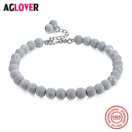 7c7bb7652799 Italia Frosted Craft 925 plata esterlina 4 5   6mm perlas encanto pulseras  mujer moda marca joyería pulsera encanto italia baratos