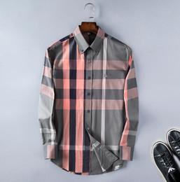 T shirt dresses cotton online-2018 Leisure Pure Cotton Rundhals zeigen Fürsorge blau T-Shirt für den Außenhandel Anzahl Long Sleeve Tee Henley Männer Kleid Shirt BB3306