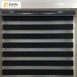 Wholesale Custom Living Room Curtains - DIHIN HOME Upgarded Type High Quality Zebra Blinds Rollor Blind Curtain Custom Made Blinds For Living Room Free Shipping