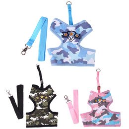 Wholesale Dogs Clothes Harness - Pet Camouflage Chest Belt for Dog Safety Walking Vest Harness Traction Rope Chest-back Pet Traction Rope Dog Clothes Product