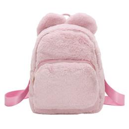 7b4a91ee0a9a0 schöne rucksäcke für frauen Rabatt Mode Frauen Mädchen Studenten Plüsch  Umhängetasche Schultasche Reise Tote Rucksack Ziemlich