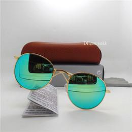 Discolour Cam Lens Güneş Gözlüğü Erkekler Kadınlar Daire Güneş Gözlükleri Marka Tasarımcısı Kahverengi Ile Yüksek Kaliteli Gözlük Yuvarlak 51 MM Gözlüğü Ayna ... nereden