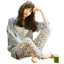 Wholesale Woman Home Wear Pajamas - Wholesale- New 2016 Spring Autumn Women Pajama Sets O-Neck Long Sleeve Women Sleepwear Pajamas Girls Home Wear Clothing For Woman Nightgown