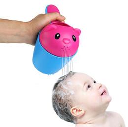 2 cores verão urso crianças bebê shampoo escudo do chuveiro tampa do copo viseira chapéu marcas bebê banho brinquedos banheira produtos de banho cuidados para as crianças de