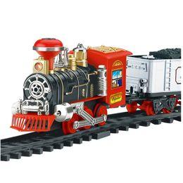 Giocattolo divertente del modello del modello del treno del fumo del treno del vapore elettrico di trasporto di gadget divertenti della ferrovia del giocattolo cheap electric train cars da automobili elettriche del treno fornitori
