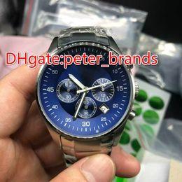Wholesale Best Movements - Stainless steel men's watch fashion high quality blue dial quartz movement battery best grade AAA 5860 wristwatch