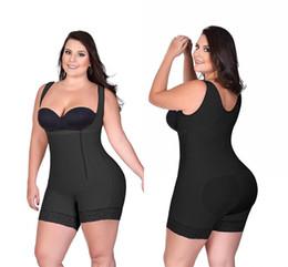 2019 enhancer della vita S-6XL Zip up Tummy Control Dimagrante body shaper body Addestratore in vita con butt lifter butt enhancer per donne post partum CPA1121 enhancer della vita economici