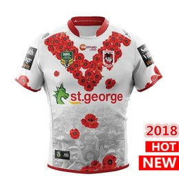 Wholesale rugby shirts xxl - ST GEORGE ILLAWARRA DRAGONS 2018 MENS ANZAC CUP JERSEY rugby Jerseys NRL National Rugby League shirt nrl jersey