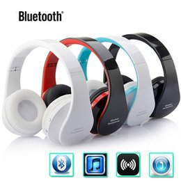 Wholesale Bluetooth Head Sets - 10pcs NEW NX-8252 Stereo Casque Audio Mp3 Wireless Bluetooth 3.0 Headset Wireless Headphones Earphone Head set Phone for iPhone For Samsung