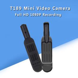 Wholesale digital voice recorder camcorder - T189 Mini Camera HD 1080P 720P Micro Camera Mini Pen Digital DVR Video Voice Recorder Camcorder Camara
