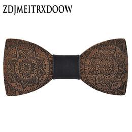 Madeira totem on-line-Venda Por Atacado homens hardwood bow tie para homens impressão bowties clássico gravata criativa handmade borboleta de madeira laço arco totem