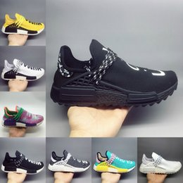 c07a73842 2018 best quality HU Human Race trail Running Shoes Men Women Pharrell  Williams Holi Blank Canvas Equality trainers sports sneakers 36-47 on sale