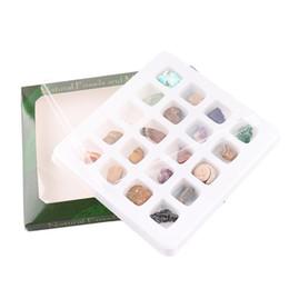 Ornamenti in pietra di cristallo online-Ore Fossil Set Ornament Natural Stone Craft Pietra preziosa di cristallo Lucido Guarigione Decorazione e collezione di pietre preziose di cristallo naturale