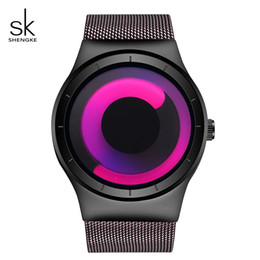 top luxury watch brands for women Coupons - Shengke Creative Women Watches Luxury Quartz Wristwatch Stainless Steel Relojes Mujer 2018 SK Top Brand Watches For Women