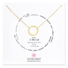 Wholesale karma circle - Dogeared Lucky Choker Necklaces with Card Gold Silver Circle Pendant Necklace For Fashion women Jewelry KARMA