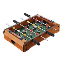 Wholesale football ball games - Intelligence Classic Football Soccer Table Learning Education Portable Mini Table Game Set Balls Developmental Toys For Adults Kids 32hy W