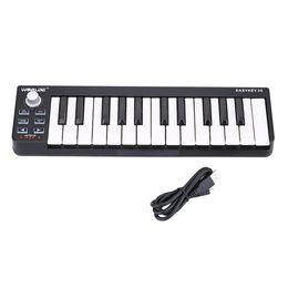 Piano teclado midi on-line-Venda quente Teclado MIDI Eletrônico Portátil Mini 25-Key USB MIDI Controlador Eletrônico Piano frete grátis