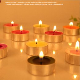 Wholesale Decorative Wax Candles - Tea light candles handmade wax candles Light For Wedding Decoration Romantic Party Holiday Smoke Scented Tasteless Tea Candles