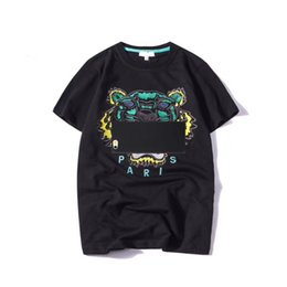 Wholesale mens designer clothing brands - 2018 Summer Brand Designer T Shirts For Men Tops Tiger Head Letters Embroidery T Shirt Mens Clothing Short Sleeve Tshirt Women Tops S-2XL