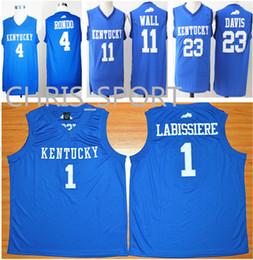 d3f298ec702e Chinese Kentucky college Wildcats blue basketball jerseys  4 Rajon Rondo 1 Skal  Labissiere 11 John