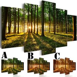 Kein gerahmtes Wand-Bild gedrucktes Segeltuch-Malerei-Spray-Anstrich Hauptdekor-zusätzliche Spiegel-Rand-Landschaftswald-Licht von Fabrikanten