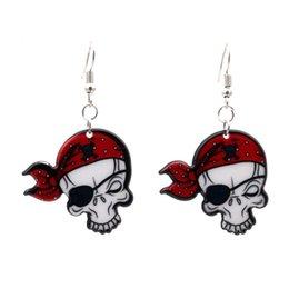 5.5 * 3.4 cm Long Drop boucles d'oreilles pour la fête d'Halloween Squelette Dangle boucles d'oreilles pour les femmes Bijoux Charme cadeaux Acrylique Punk Goutte ? partir de fabricateur