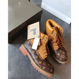 2019 bottes de marque homme 2018 nouvelles bottes de luxe hommes designer chaussures de sport baskets occasionnels imperméables formateurs hommes femmes marque de luxe bottes avec la taille de la boîte 35-45 promotion bottes de marque homme