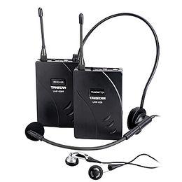 Беспроводная система приемника передатчика онлайн-Оригинал Takstar UHF-938 / UHF 938 Беспроводная система гидов УВЧ частота беспроводной микрофон Передатчик + приемник + микрофон + наушники