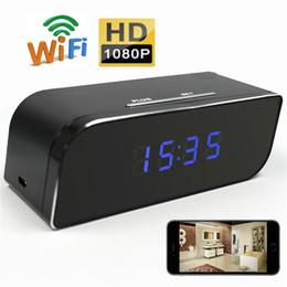 Câmera de rede interna sem fio on-line-HD Wi-fi Câmera de Rede 1080 P Relógio Despertador DVR Movimento Ativado Câmera de Segurança Sem fio Nanny Cam Camcorder DV Interno para Visualização Em Tempo Real