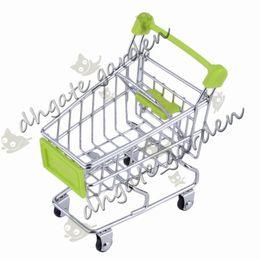 Shippng libero 30pcs / lot mini carrelli di mano del supermercato di modo mini carrello di immagazzinaggio del supporto del telefono di immagazzinaggio di decorazione del carrello del regalo del bambino da negozio di telefonia a mano fornitori
