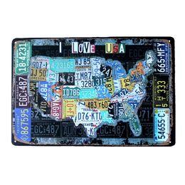 Оловянные вагоны онлайн-Страна автомобилей пластины США Маршрут 66 карта старинные жестяная вывеска бар паб Главная гараж Декор стен ретро металл искусство плакат доска 30x20cm A881